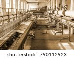 old 1900s woolen mill machinery ... | Shutterstock . vector #790112923