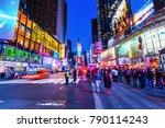new york city  ny   october 09  ... | Shutterstock . vector #790114243
