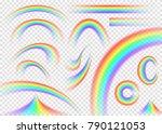 rainbow set isolated on... | Shutterstock .eps vector #790121053