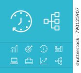 economy icons set with factory  ... | Shutterstock .eps vector #790125907