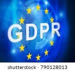 gdpr general data protection... | Shutterstock . vector #790128013