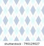 argyle pattern in dusty blue ... | Shutterstock .eps vector #790129027