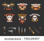 hard core gamer avatar badge... | Shutterstock .eps vector #790139497