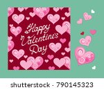 happy valentines day. greeting... | Shutterstock .eps vector #790145323