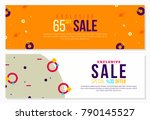 abstract banner design with... | Shutterstock .eps vector #790145527