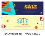 abstract banner design with... | Shutterstock .eps vector #790145617