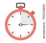 stopwatch flat colored icon  | Shutterstock .eps vector #790153603