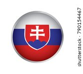 flag of slovakia  round icon | Shutterstock .eps vector #790154467