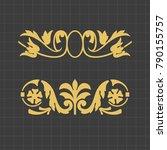 vintage baroque ornament. retro ... | Shutterstock .eps vector #790155757