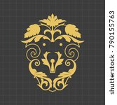 vintage baroque ornament. retro ... | Shutterstock .eps vector #790155763