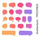 various multicolored speech...   Shutterstock .eps vector #790155823