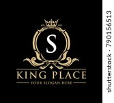 luxury vintage crest logo.... | Shutterstock .eps vector #790156513