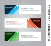 abstract banner background... | Shutterstock .eps vector #790160173