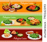 malaysian cuisine restaurant... | Shutterstock .eps vector #790162393
