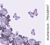 floral card template with... | Shutterstock .eps vector #790168447