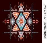 geometric aztec pattern. tribal ... | Shutterstock .eps vector #790175467