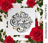 valentine's day greeting card... | Shutterstock .eps vector #790179913