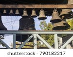 small cast bells with patterns  ... | Shutterstock . vector #790182217