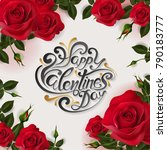 valentine's day greeting card... | Shutterstock .eps vector #790183777
