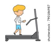 man on a treadmill | Shutterstock .eps vector #790186987