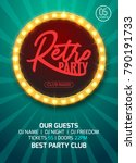 retro party poster design.... | Shutterstock .eps vector #790191733