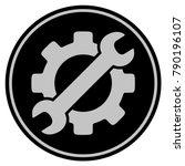 optional gear black coin icon.... | Shutterstock .eps vector #790196107