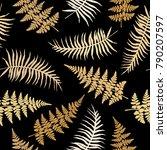 realistic fern seamless pattern ... | Shutterstock .eps vector #790207597