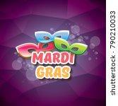 vector new orleans mardi gras... | Shutterstock .eps vector #790210033