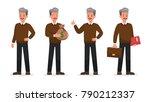 businessman doing different... | Shutterstock .eps vector #790212337