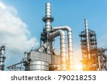 close up industrial zone. plant ... | Shutterstock . vector #790218253