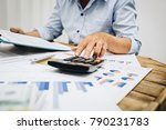 business man accountant using... | Shutterstock . vector #790231783