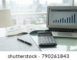 accounting office desk concept. ... | Shutterstock . vector #790261843