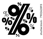 percentage icon. simple... | Shutterstock .eps vector #790262893