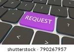 request computer button... | Shutterstock . vector #790267957