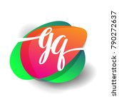 letter gq logo with colorful... | Shutterstock .eps vector #790272637