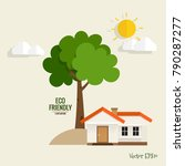 green eco city living concept.... | Shutterstock .eps vector #790287277