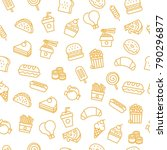 fast food pattern | Shutterstock .eps vector #790296877