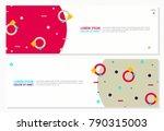 memphis 3d flat banner template ... | Shutterstock .eps vector #790315003