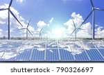 new energy  such as... | Shutterstock . vector #790326697