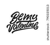 be my valentine. premium... | Shutterstock .eps vector #790335013
