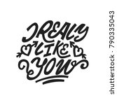 i realy like you. premium... | Shutterstock .eps vector #790335043