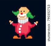 Clown. Pixel Art. Old School...