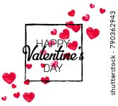valentines day card with red... | Shutterstock .eps vector #790362943