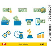 set of canadian dollar.... | Shutterstock .eps vector #790366207