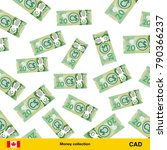 flying canadian dollar... | Shutterstock .eps vector #790366237