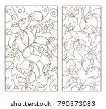 set contour illustrations of... | Shutterstock .eps vector #790373083
