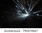 ray of light passes through the ... | Shutterstock . vector #790374067