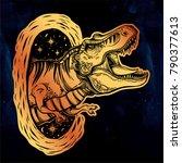 tyrannosaurus dinosaur head....   Shutterstock .eps vector #790377613