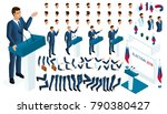 create your isometric character.... | Shutterstock .eps vector #790380427