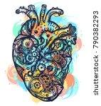 magic heart tattoo and t shirt... | Shutterstock .eps vector #790382293